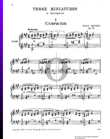 Three Miniatures In Syncopation, Op. 76: No. 1 Cobweb