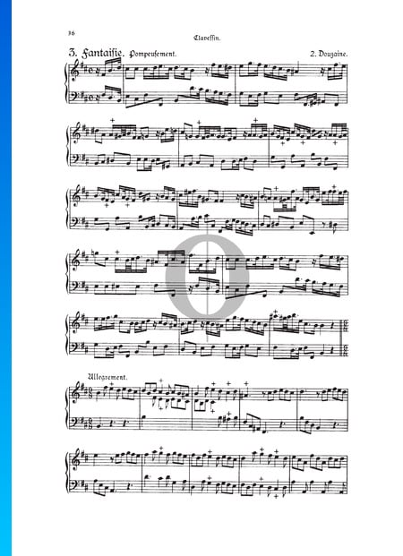 Fantasia, Douzaine II No. 3: Pompeusement, TWV 33:15 Sheet Music