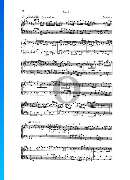 Fantasie, Douzaine II Nr. 3: Pompeusement, TWV 33:15 Musik-Noten