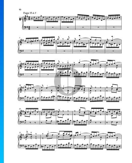 Fuga G-Dur, BWV 884 Musik-Noten