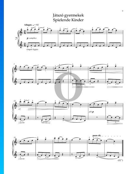 Für Kinder, Sz. 42 Vol. 1: Nr. 1 Spielende Kinder Musik-Noten