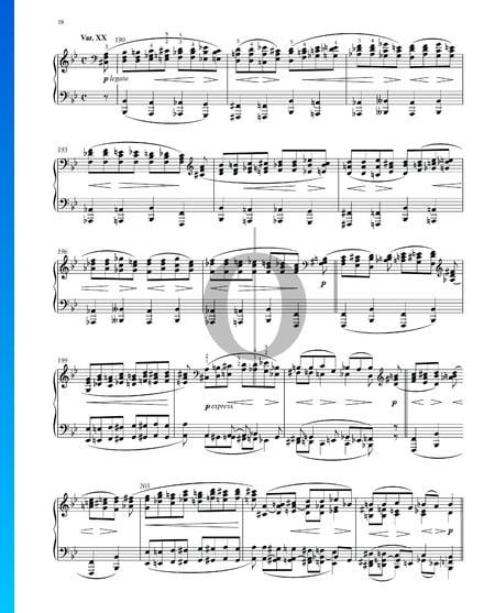 Variationen und Fuge über ein Thema von Händel, Op. 24: Variation XX Musik-Noten