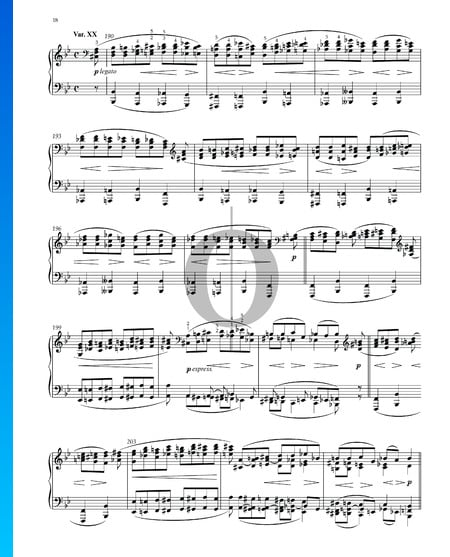 Variations and Fugue on a Theme by Handel, Op. 24: Variation XX Sheet Music