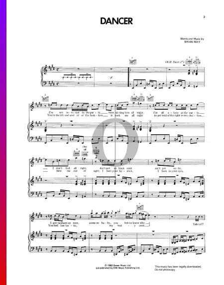 Dancer Sheet Music