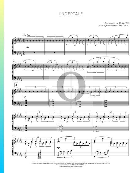 Undertale Musik-Noten
