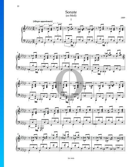 Sonate es-Moll: 1. Allegro appassionato Musik-Noten