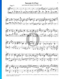 Sonata en sol mayor, BWV 1005: 1. Fuga