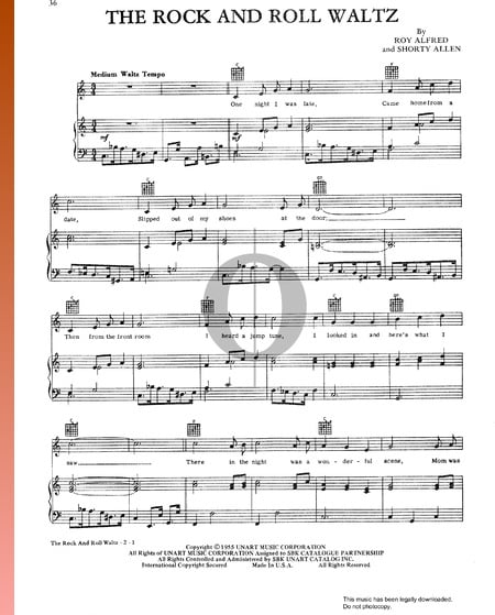The Rock And Roll Waltz Sheet Music