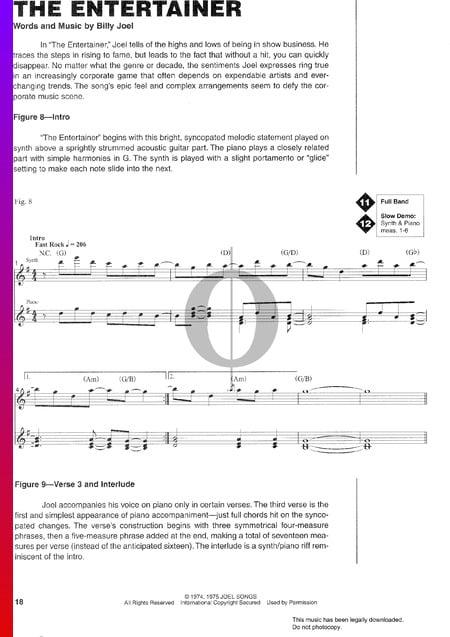 The Entertainer Musik-Noten