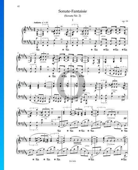 Sonata-Fantaisie Nr. 2 gis-Moll, Op. 19: 1. Andante Musik-Noten