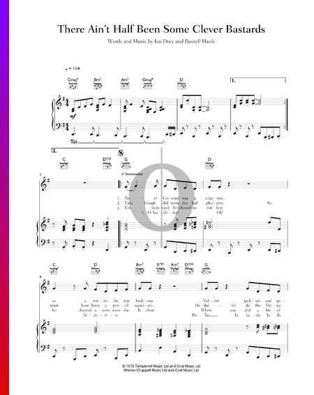 There Ain't Half Been Some Clever Bastards Sheet Music