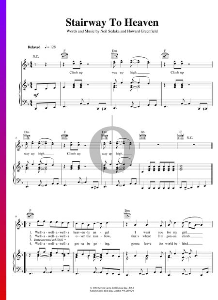 Stairway To Heaven Musik-Noten