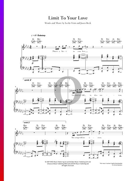 Limit To Your Love Sheet Music