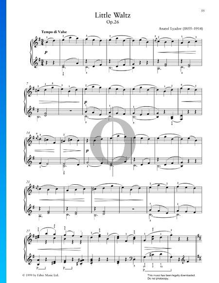 Kleiner Walzer, Op. 26 Musik-Noten