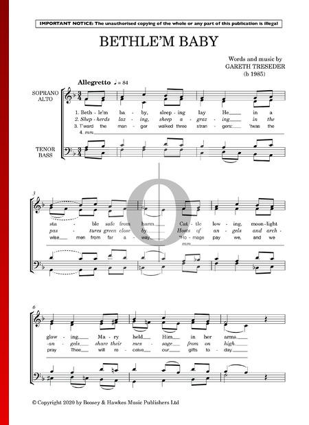 Bethle'm Baby Sheet Music