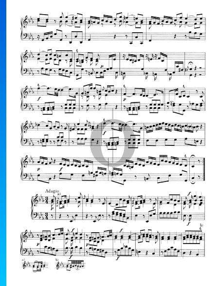 Sonate Nr. 4, Wq 48: 2. Adagio Musik-Noten