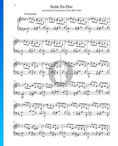 Suite in E-flat Major, BWV 1010: 1. Praeludium Sheet Music