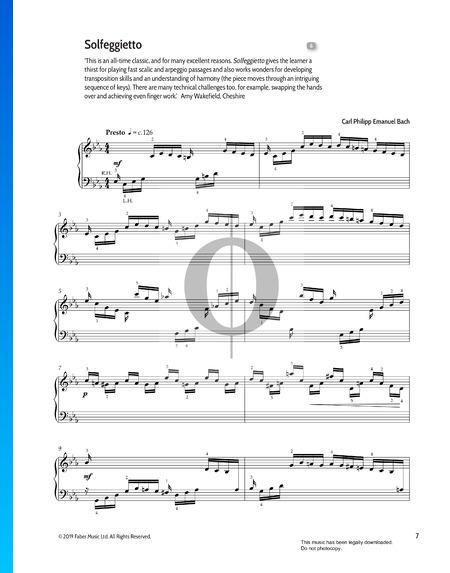 Solfeggietto C Minor, H.220 Partitura