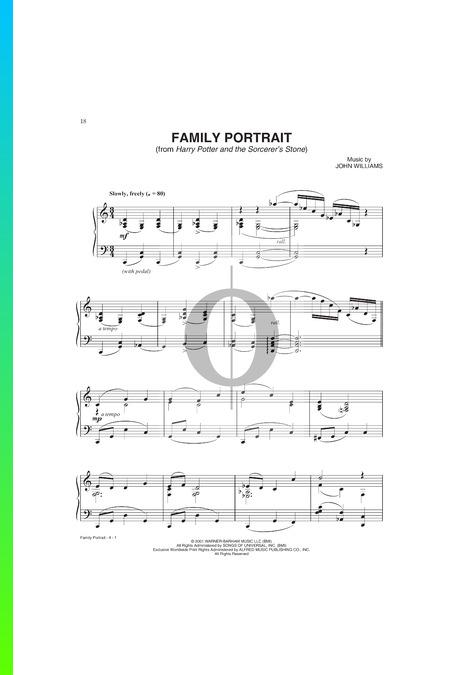 Family Portrait (Harry Potter) Sheet Music