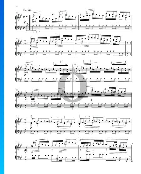 Variaciones y Fuga sobre un tema de Händel, Op. 24: Variación VIII Partitura