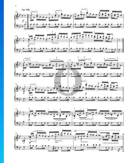Variations et Fugue sur un Thème de Handel, Op. 24: Variation VIII Partition