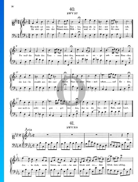 Aria E-flat Major, BWV 509 Sheet Music