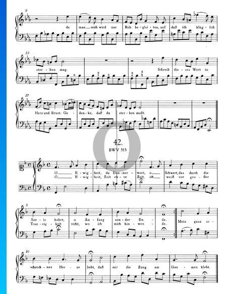 Choral: O Ewigkeit, du Donnerwort, BWV 513 Musik-Noten