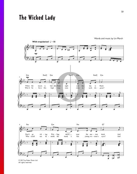The Wicked Lady Sheet Music