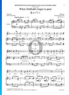 4 Shakespeare Songs, Op. 30 No. 2: When Daffodils Begin to Peer