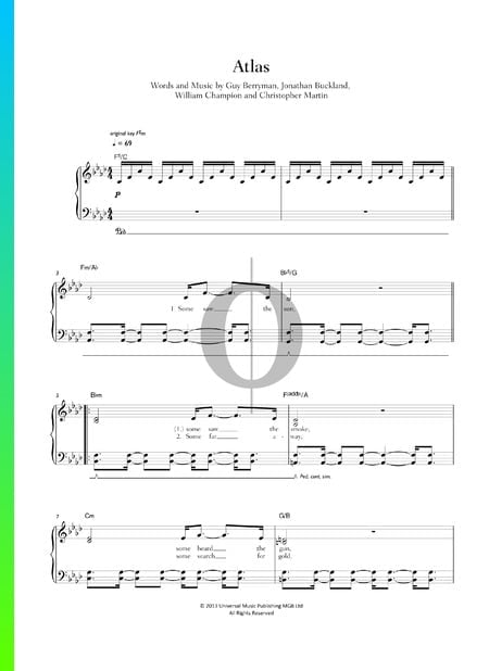 Atlas Sheet Music