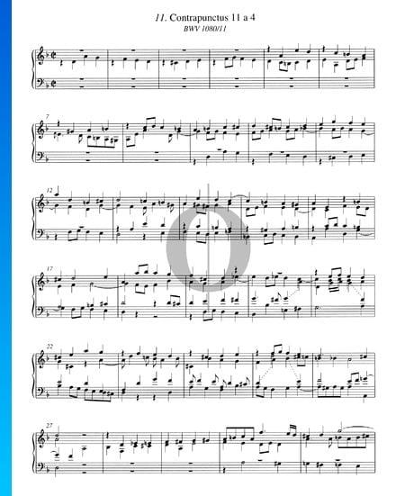 Contrapunctus 11, BWV 1080/11 Sheet Music
