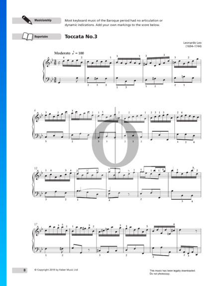 Toccata No. 3 in G Minor Sheet Music