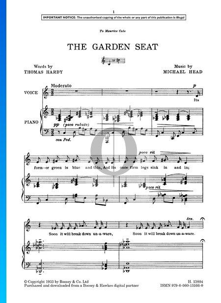 The Garden Seat Musik-Noten