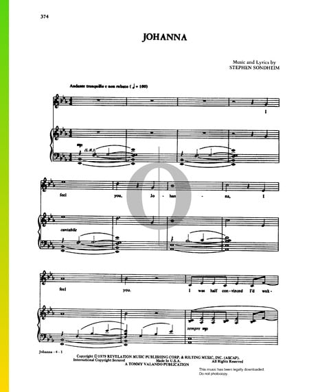 Johanna Musik-Noten
