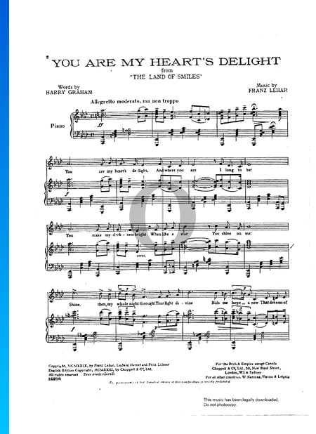 You Are My Heart's Delight Sheet Music