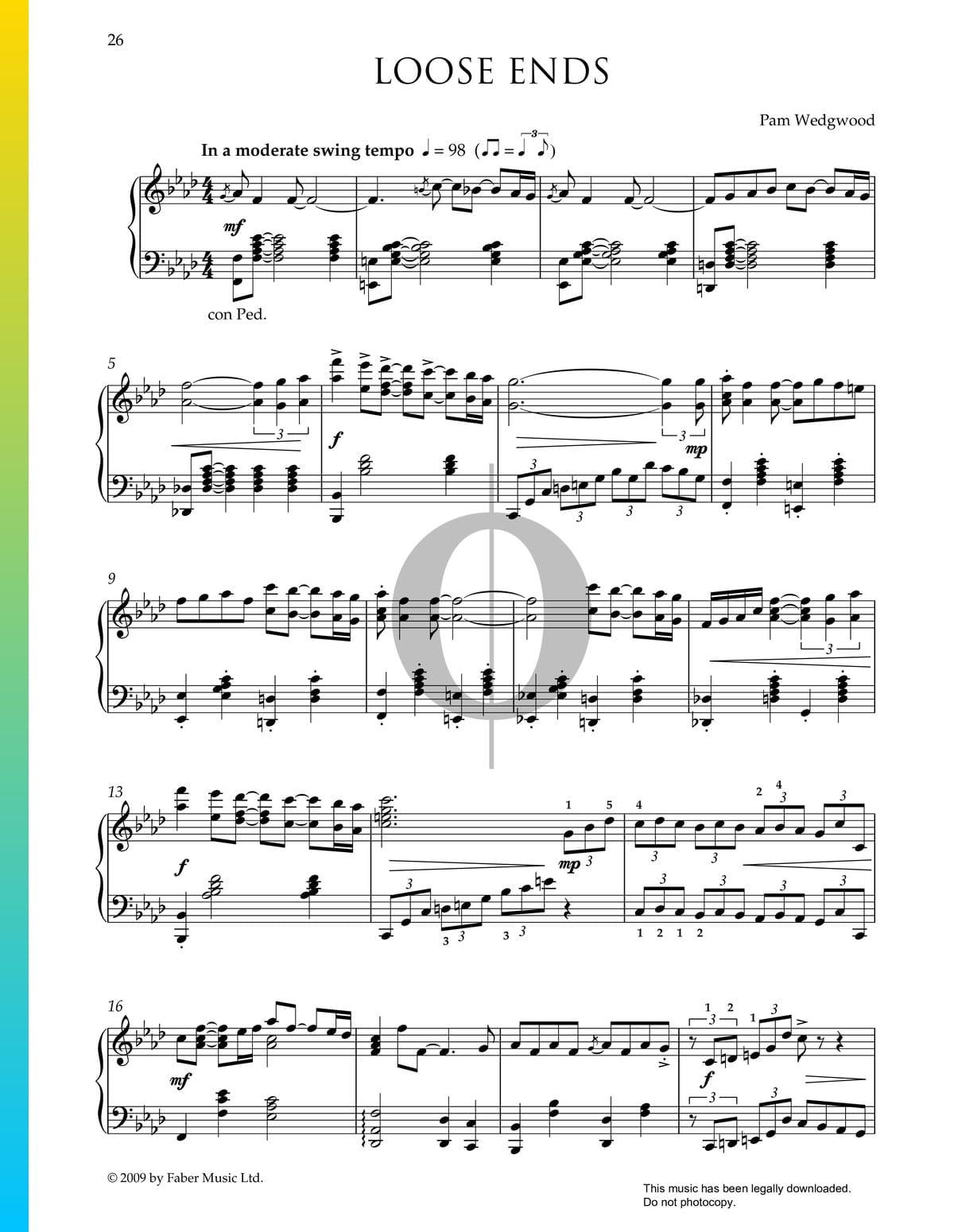 ▷ loose ends sheet music (piano solo) - pdf download & streaming - oktav  oktav