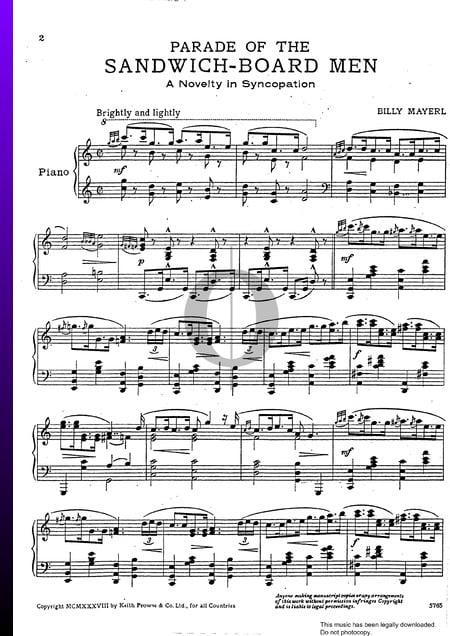 Parade Of The Sandwich Board Men Musik-Noten