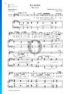 Le Secret, Op. 23 n.º 3