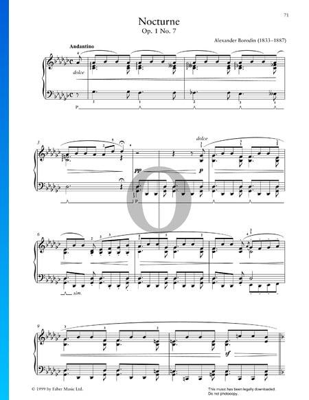 Nocturne, Op. 1 Nr. 7 Musik-Noten