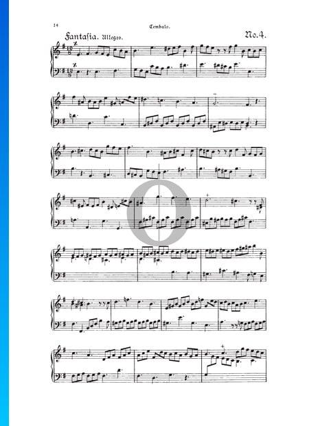 Fantasia, TWV 33:4 Sheet Music
