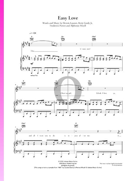 Easy Love Sheet Music