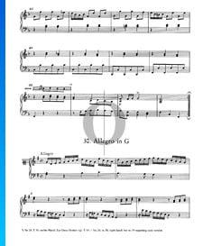 Allegro in G Major, No. 30