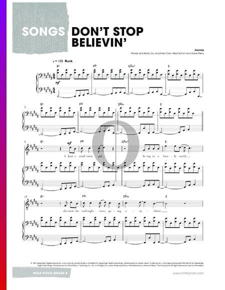 Don't Stop Believin' Musik-Noten