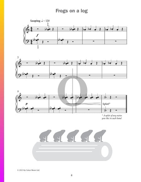 Frogs on a log Sheet Music