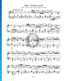 Las estaciones, Op. 37a: 3. Marzo (Canto de la alondra)