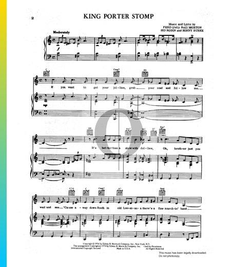 King Porter Stomp Musik-Noten