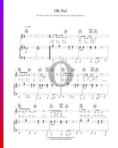 Oh No! Musik-Noten