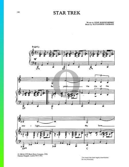 Star Trek Musik-Noten