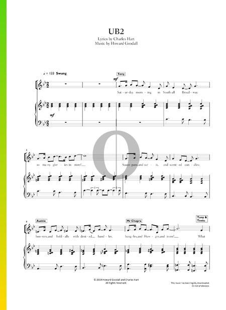 UB2 Sheet Music