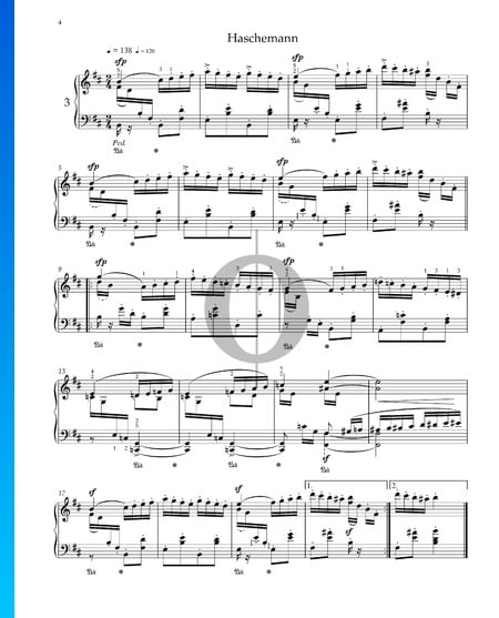 Kinderszenen, Op. 15 Nr. 3: Hasche-Mann Musik-Noten